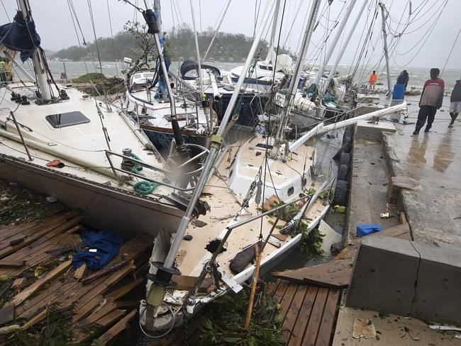 Yachts damaged in Port Vila