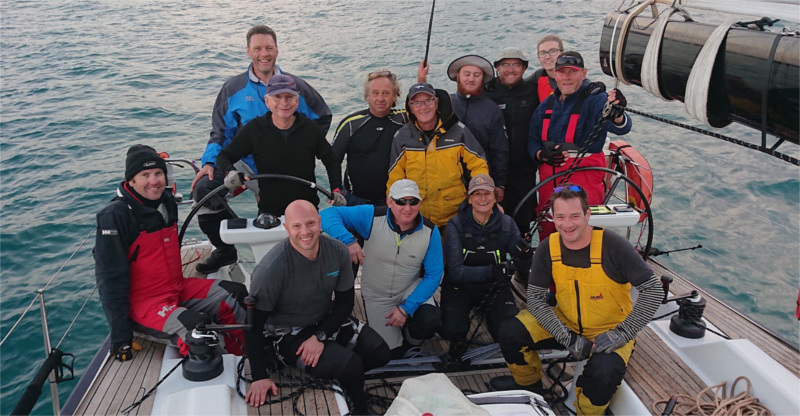 Crew of Carrera S after taking line honours ORCV media pic Apollo Bay Race resized 2