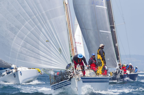 Tevake II has won the Rudder Cup as the overall winner of the ORCV Melbourne to Devonport Yacht Race. Photo Bruno Cocozza