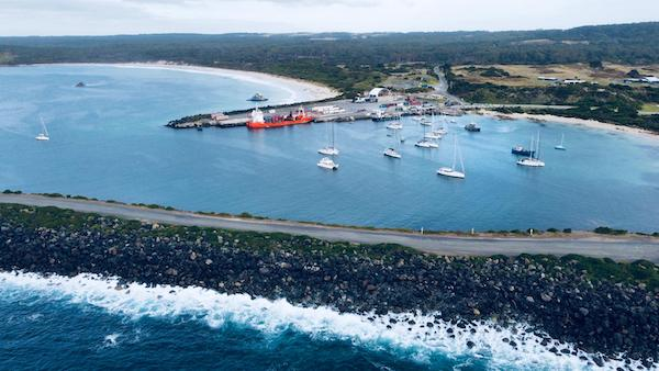 End destination beautiful Grassy Harbour ORCV media pic King Island Race